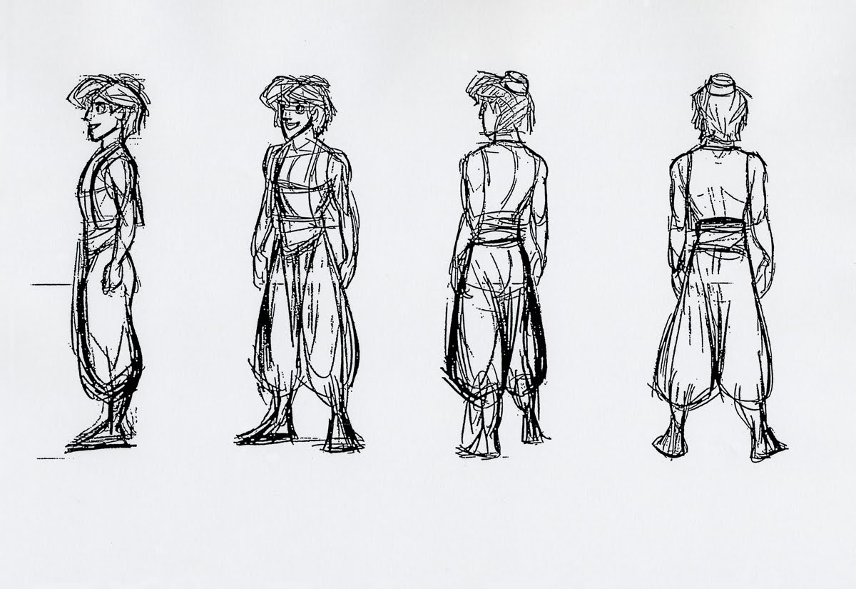 Character Design Side View : Image aladdin concept g disney wiki