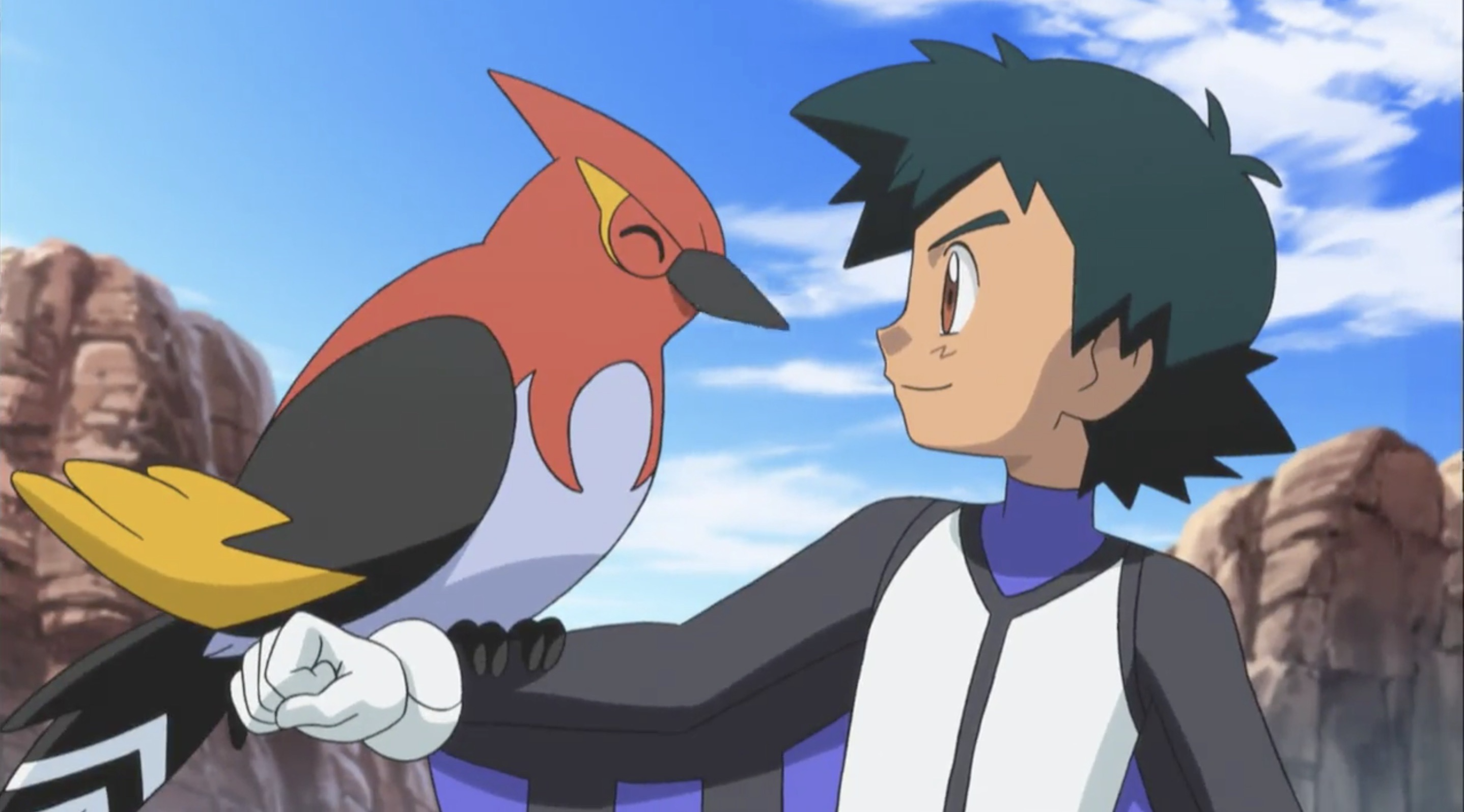 Image Ash And Fletchinder Png The Pok 233 Mon Wiki