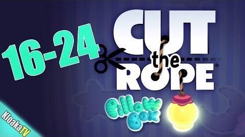 Cut The Rope 16-24 Pillow Box Walkthrough (3 Stars)