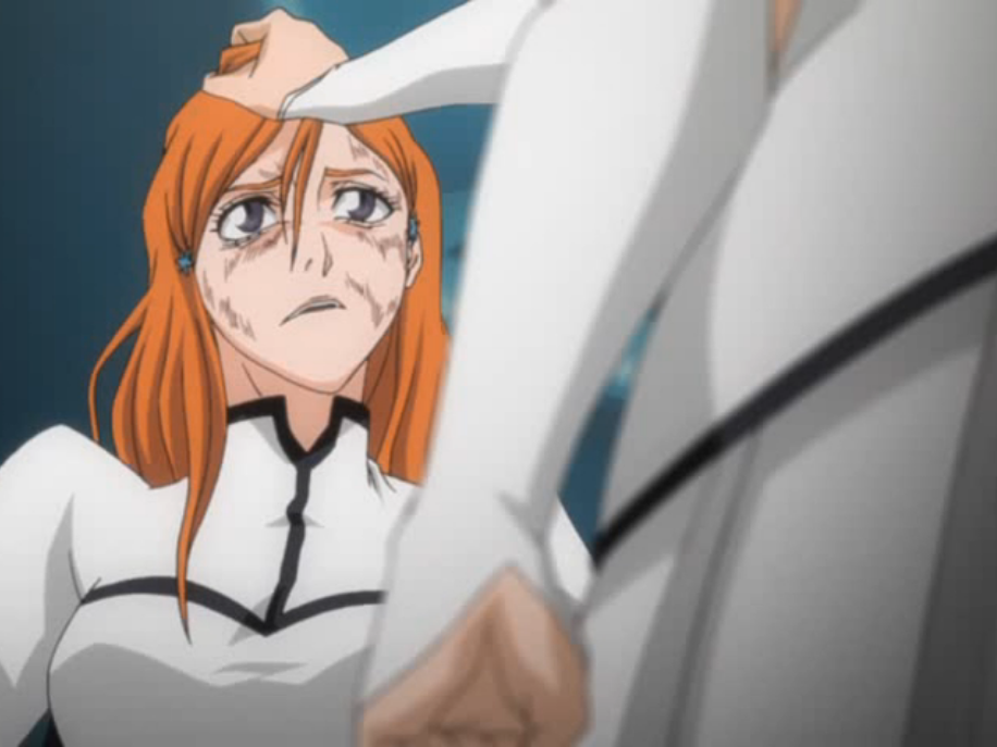 Ep163LolyGripsOrihime Frightened Face Anime
