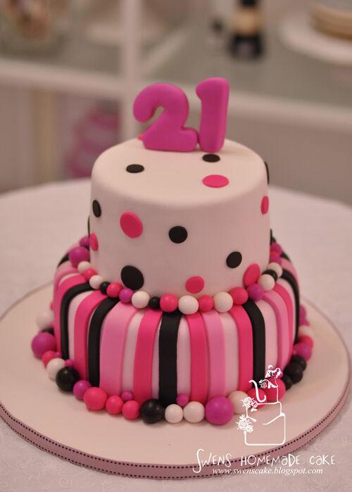 Cookie Cake Designs For 21st Birthday : Image - 21st birthday cake Pink1.jpg - The Vampire Diaries ...