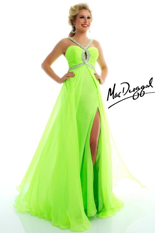 Party Dresses Lime Green 112