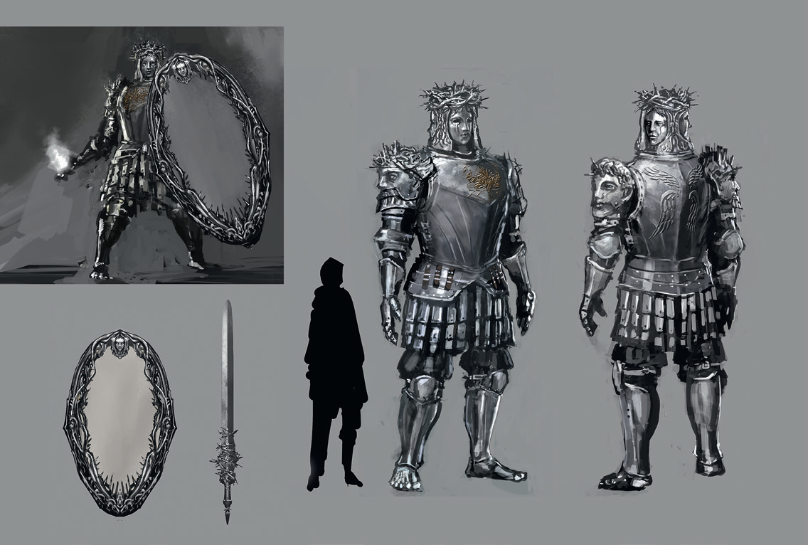 Image looking glass knight dark souls wiki for Mirror knight
