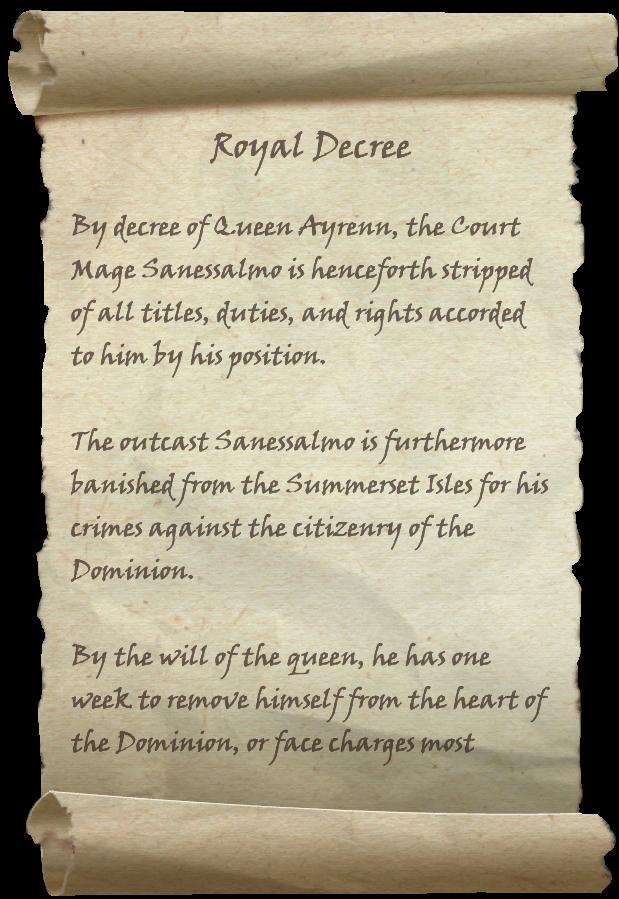 Image - Royal Decree.png - The Elder Scrolls Wiki - Wikia