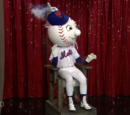"The Queens College ""Mr. Met in an Electric Chair"""