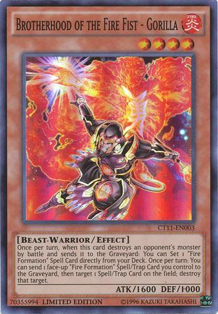 Yugioh brotherhood of the fire fist deck