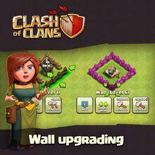 Mise à jour annoncée Clash of Clans 220px-Wall_upgrading_maj