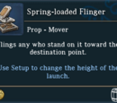 Spring-loaded Flinger