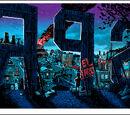 Ilustrações da noite de Springfield por Tim Doyle