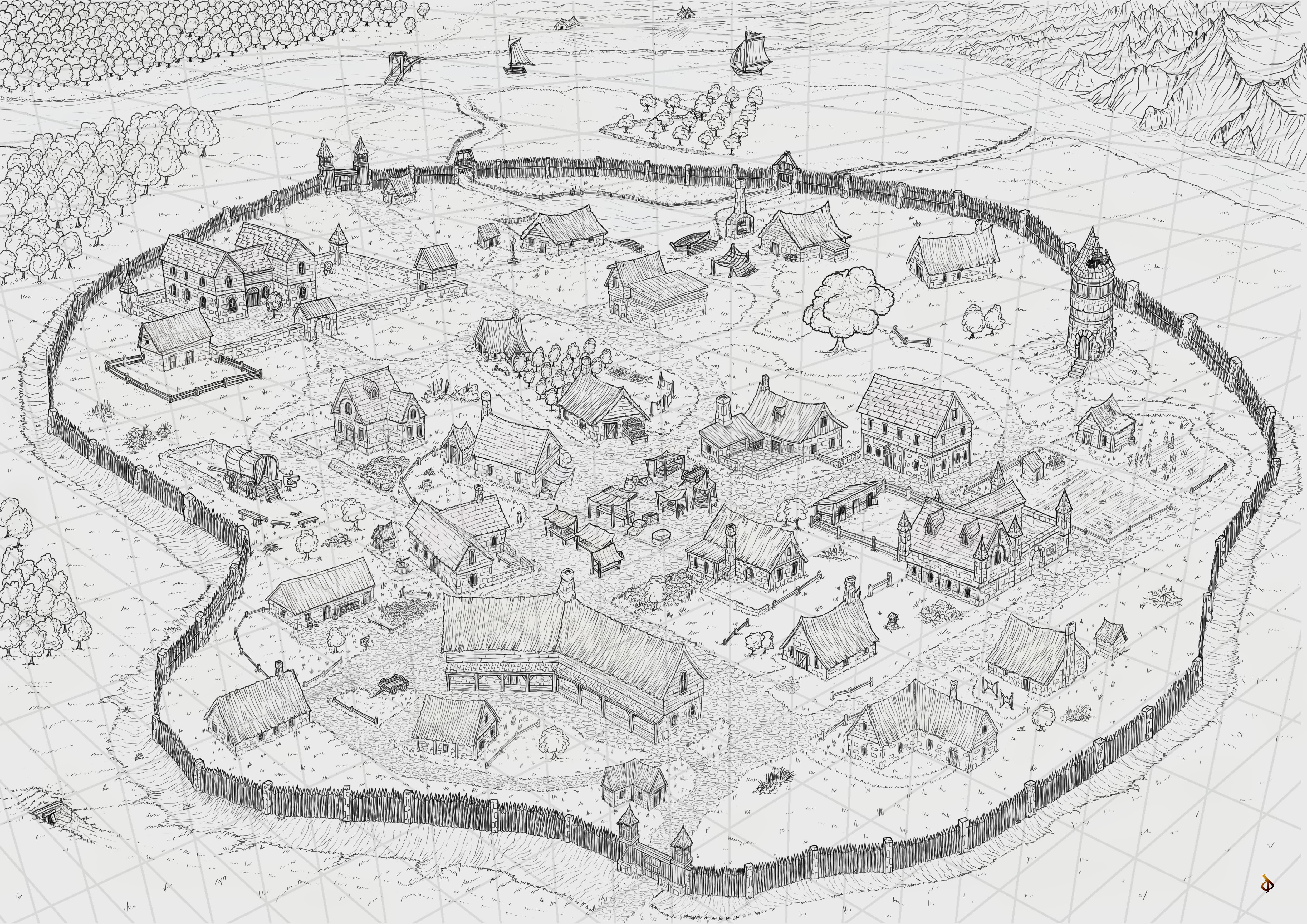 fantasy world map drawing
