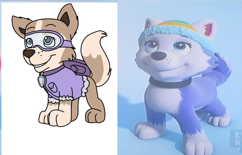 Paw Patrol Tundra Coloring Pages : Image tundra and everest g paw patrol fanon wiki