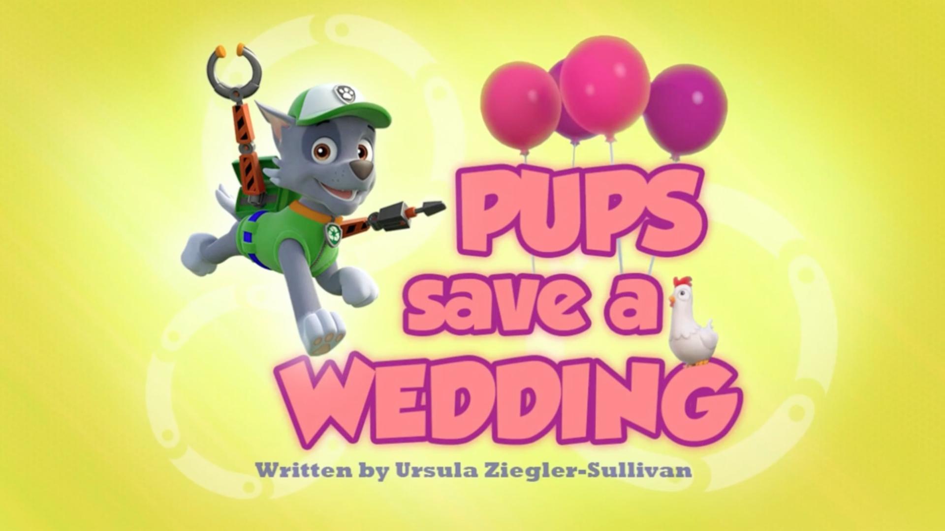 pups save a wedding  paw patrol wiki