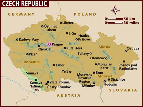 Image - Czech republic map 001.jpg - Wikia Travel Czech Republic Travel Maps