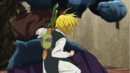 Meliodas punching and defeating Ruin.png
