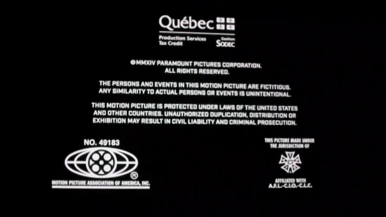Mpaa Credits: Teenage Mutant Ninja Turtles 2014 MPAA Credits.jpg