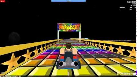 Mario Kart 7 Roblox SNES Rainbow Road