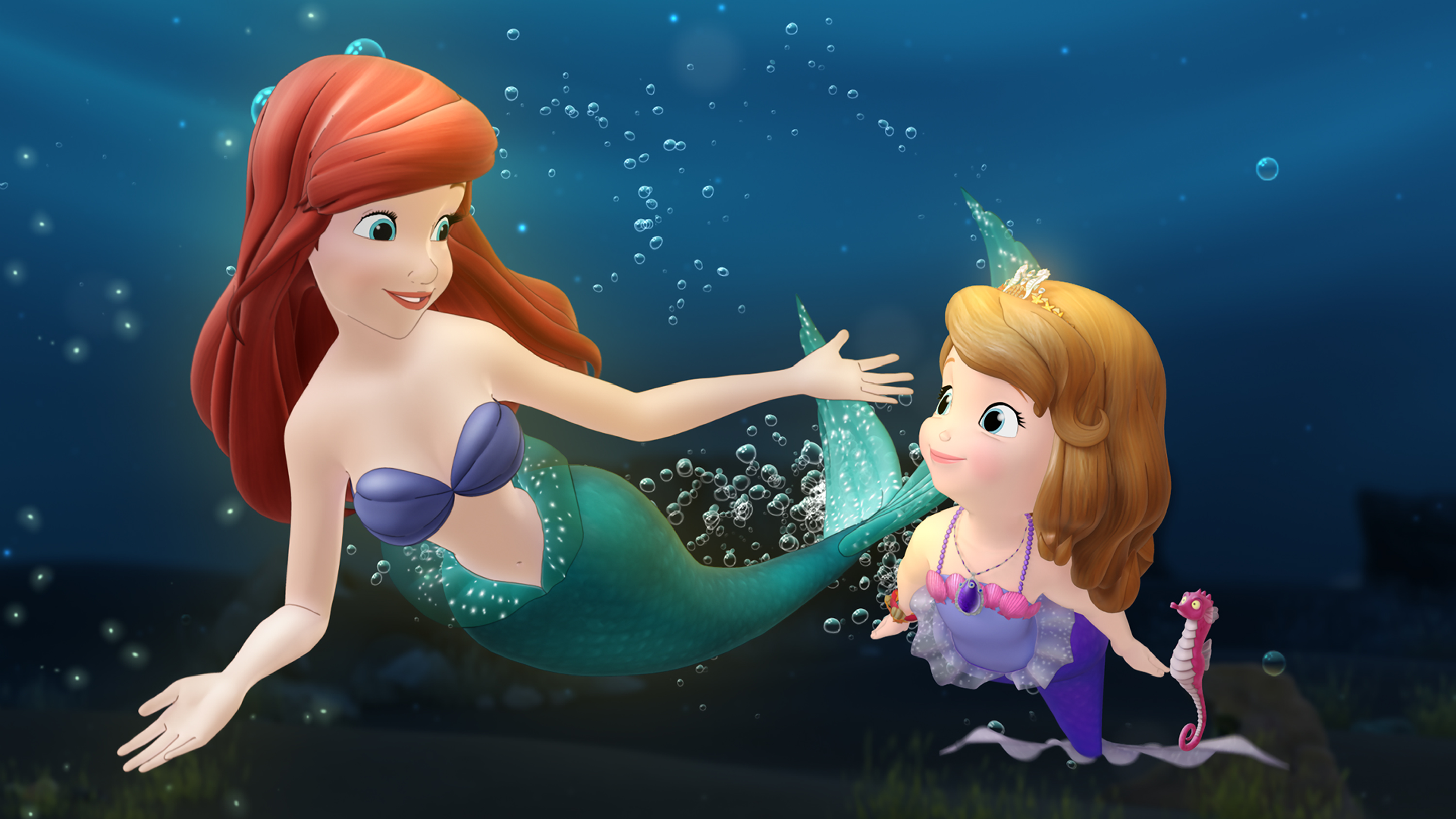 Sofia With Princess Ariel