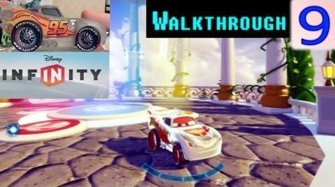 -HD- Disney Infinity Silver Lightning McQueen Battle Race Gold Medal Walkthrough Video - 9