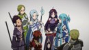 Asuna and the Sleeping Knights preparing for battle.png