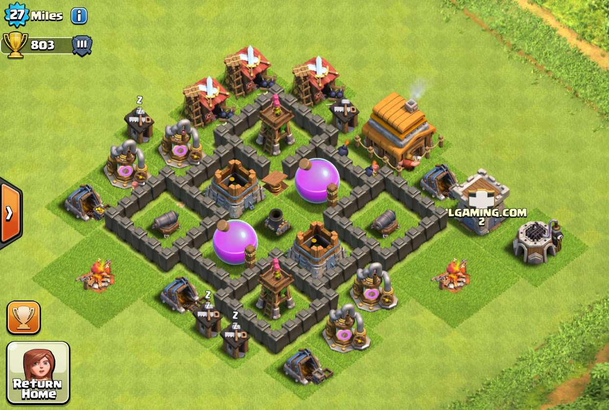 coc how to put treasure in castle