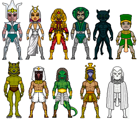 egyptian heroes and gods
