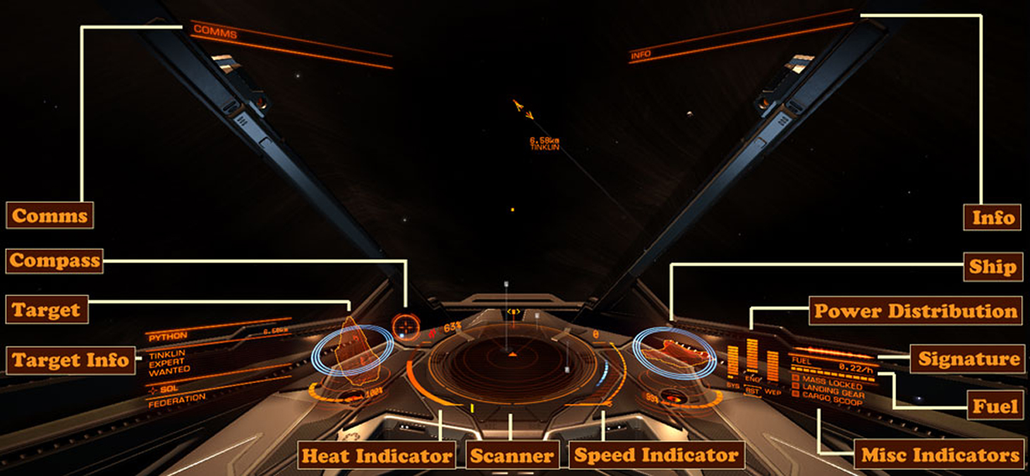 elite dangerous how to see current shield strength