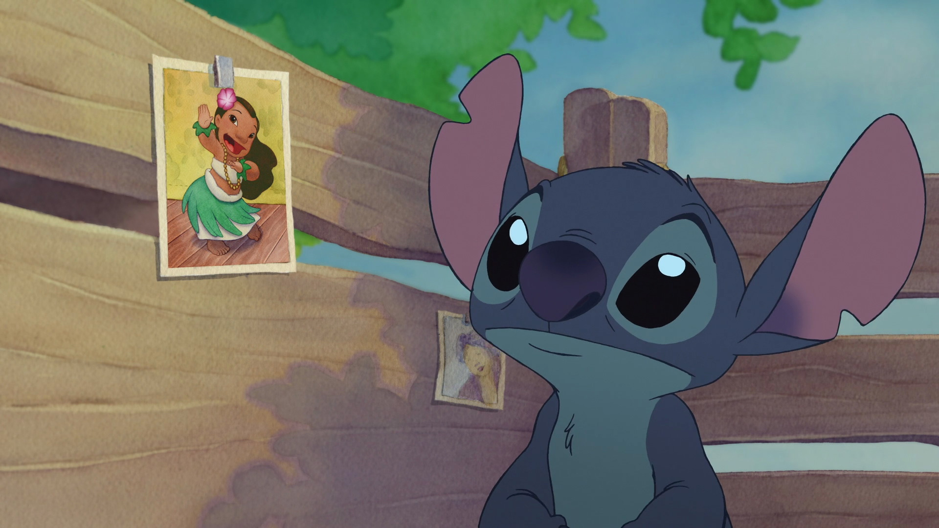 It is a picture of Zany Pictures of Lilo & Stitch