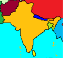 Map of India and surrounding countries.png