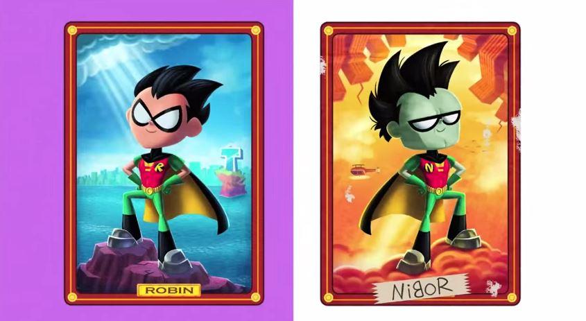Teen Titans Go Tv Series Episode Robin Backwards Dc