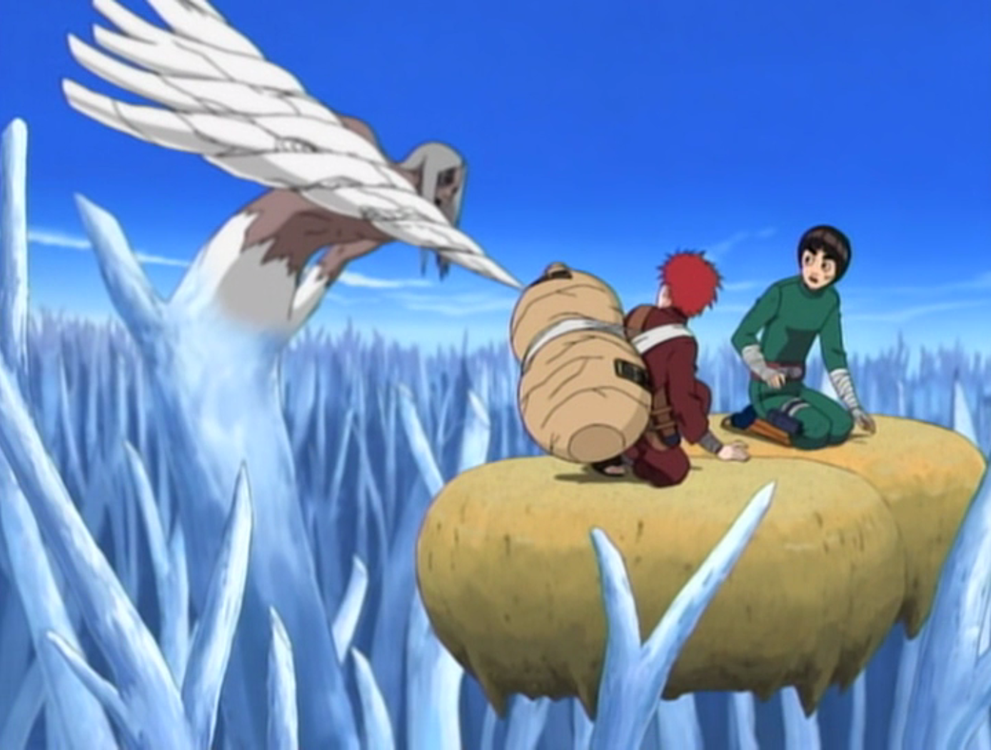 Kimimaro vs Gaara Rock Lee Gaara And Rock Lee Vs Kimimaro