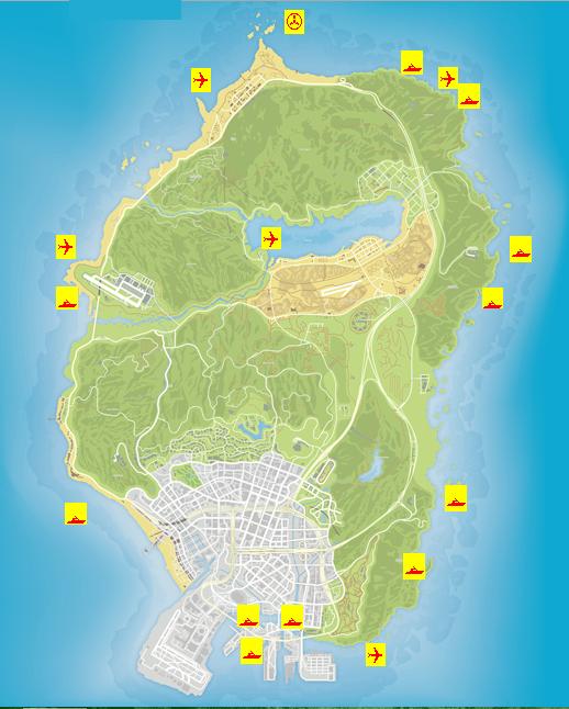 gta wrecks locations wreck map grand theft auto senora desert