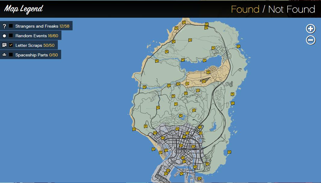 Gta  Hidden Letter Scraps Locations
