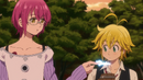 Gowther using Search Light on Meliodas.png