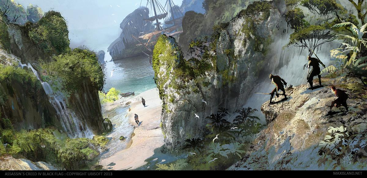 Island Beach Concept Art