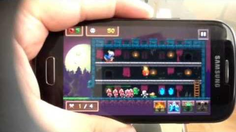 Super Monster Castle Android phone test