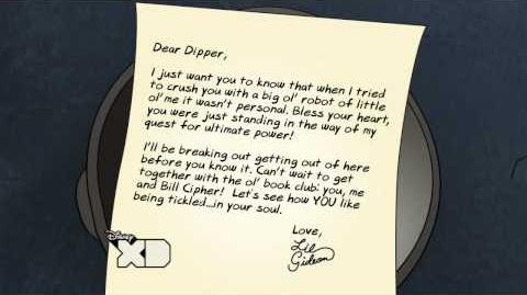 Creepy Letters from Lil Gideon Dipper Tickle