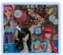 Wig playset: Deluxe Liv 'n Fast