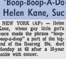 Boop-Boop-a-Doop Girl Of the 30s, Helen Kane Succumbs To Cancer