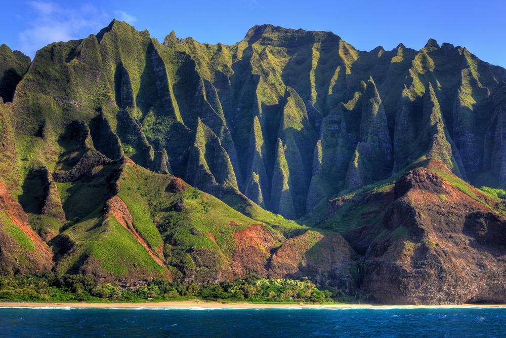 Image Na Pali Coast Cathedral Kauai Hawaii Usa Jpg