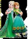 Elsa and Anna Frozen Fever Render.png
