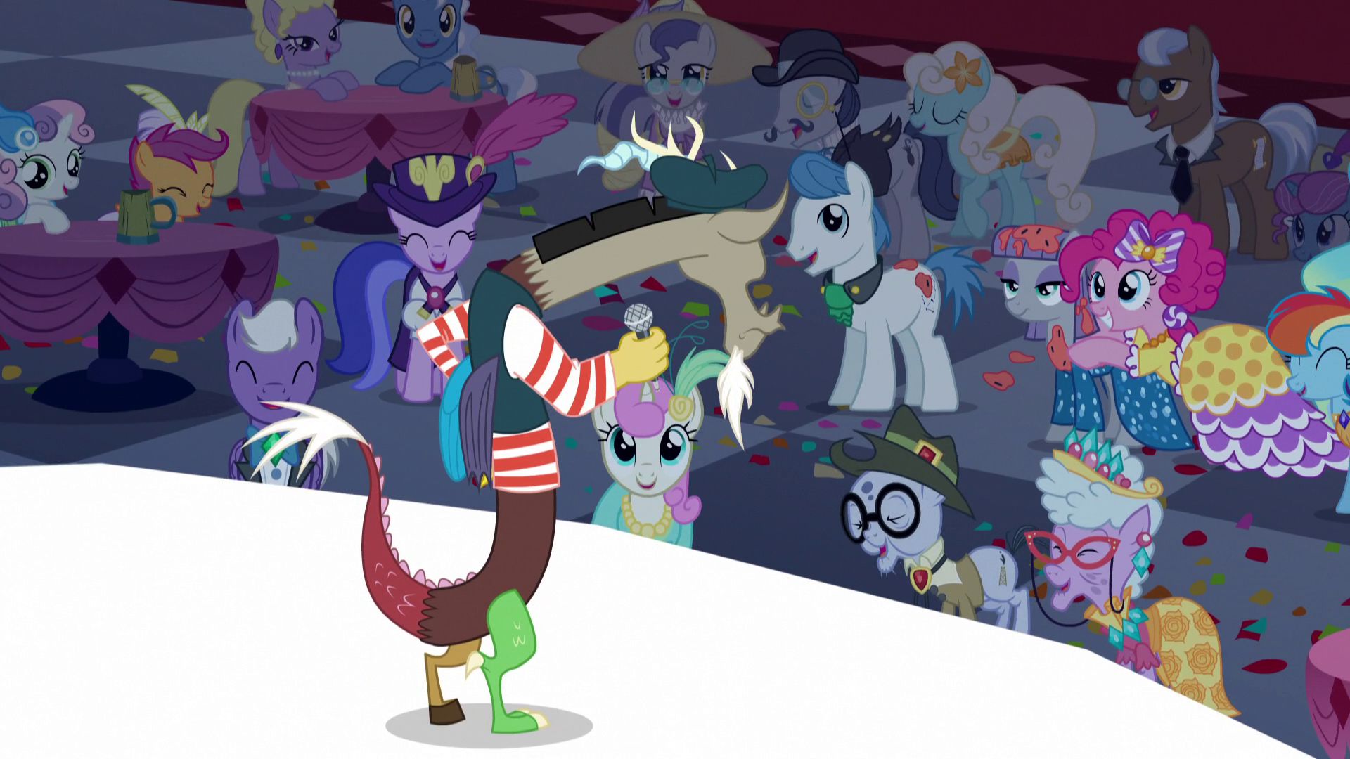 image crowd laughing at discord s5e7png my little