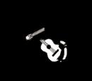 Beschädigte Gitarre