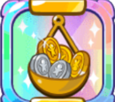Plate Overflowing with Coins