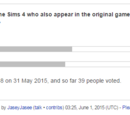 New Discussion - Should we separate The Sims 4 information from the Original pages?