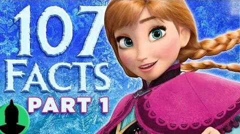 107 Frozen Facts YOU Should Know! PART 1 (ToonedUp 31) @ChannelFred