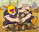 Dos enemigos peleando en el comic de Captain N.png