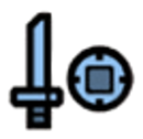 Sword and Shield Icon Light Blue.png
