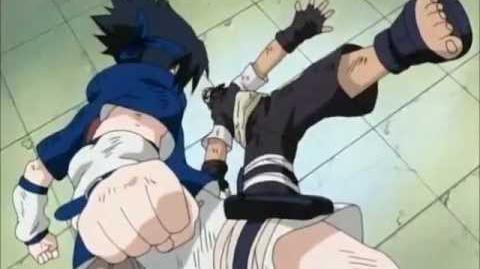 Examen chunin Sasuke Uchiha vs Yoroi