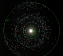 Asteroidengürtel in unserem Sonnensystem