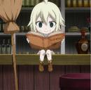 Mavis jeune est en train de lire un livre.png